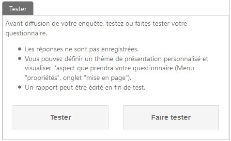 Tester le questionnaire